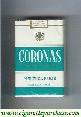 Discount Coronas American Blend Menthol Fresh cigarettes