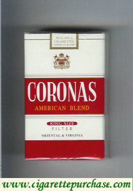 Discount Coronas American Blend cigarettes filter king size