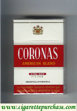 Discount Coronas American Blend cigarettes king size filter