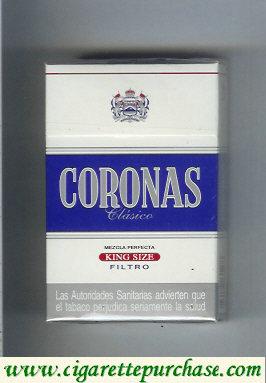 Discount Coronas Clasico cigarettes king size filtro
