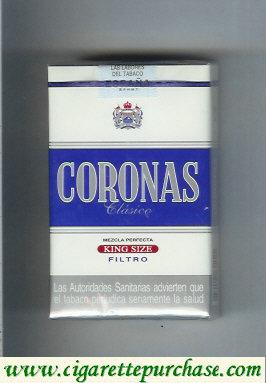 Discount Coronas Clasico king size cigarettes filtro