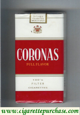 Discount Coronas Full Flavor 100s filter cigarettes