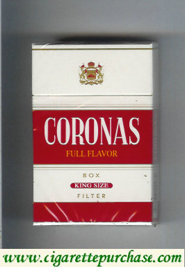 Discount Coronas Full Flavor box cigarettes king size filter