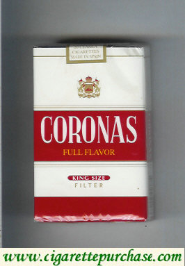 Discount Coronas Full Flavor cigarettes king size filter soft box