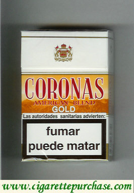 Coronas Gold cigarettes American Blend