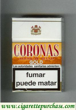 Discount Coronas Gold cigarettes American Blend