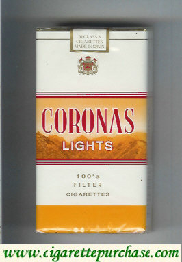 Discount Coronas Lights 100s cigarettes filter