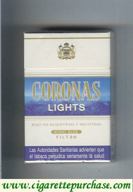 Discount Coronas Lights cigarettes king size filtro