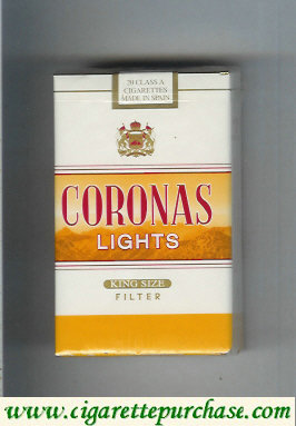 Discount Coronas Lights king size cigarettes filter