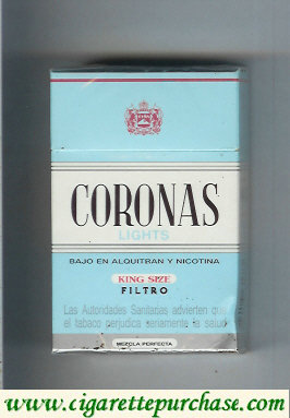 Discount Coronas Lights king size filtro cigarettes