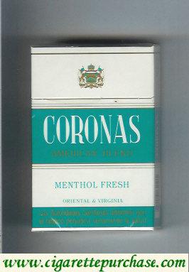 Discount Coronas Menthol Fresh cigarettes American Blend