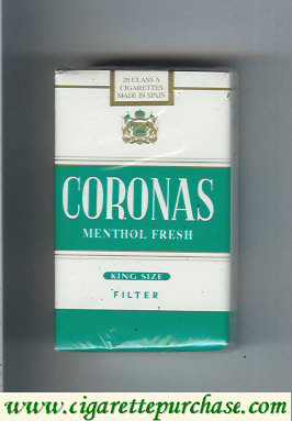 Discount Coronas Menthol Fresh cigarettes king size filter