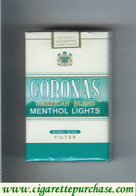 Discount Coronas Menthol Lights cigarettes American Blend