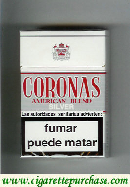 Discount Coronas Silver cigarettes American Blend
