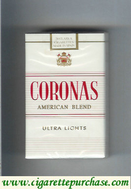 Coronas Ultra Lights American Blend cigarettes