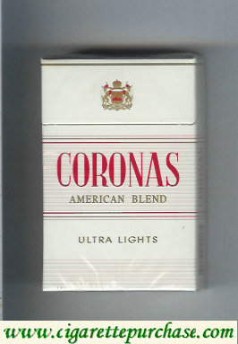 Discount Coronas Ultra Lights cigarettes American Blend