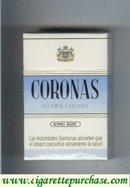 Discount Coronas Ultra Lights cigarettes king size