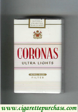 Coronas Ultra Lights king size filter cigarettes