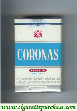 Discount Coronas filtro king size cigarettes