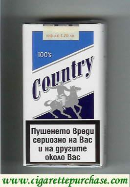 Country 100s cigarettes