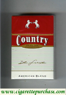 Country American Blend De Luxe cigarettes