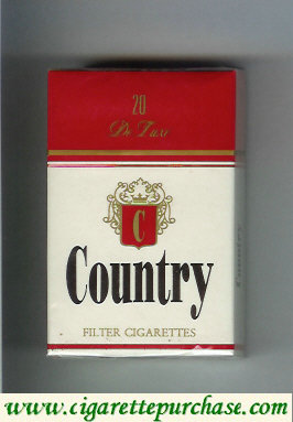 Country De Luxe filter cigarettes
