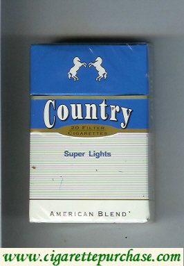 Country Super Lights American Blend cigarettes