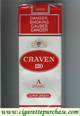Discount Craven 120 Super Length cigarettes