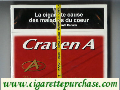 Discount Craven A 25 cigarettes king size