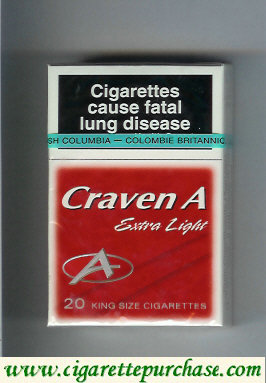 Craven A Extra Light cigarettes red