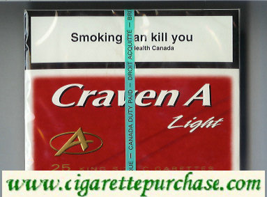 Discount Craven A Light 25 king size cigarettes