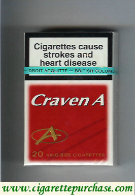 Craven A cigarettes king size