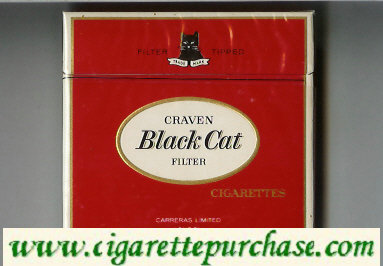 Craven Black Cat Filter cigarettes