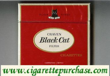 Discount Craven Black Cat Filter cigarettes
