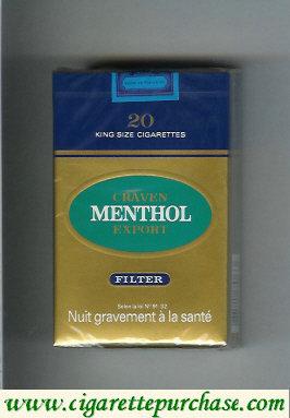 Discount Craven Export Menthol cigarettes