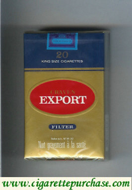 Craven Export filter cigarettes