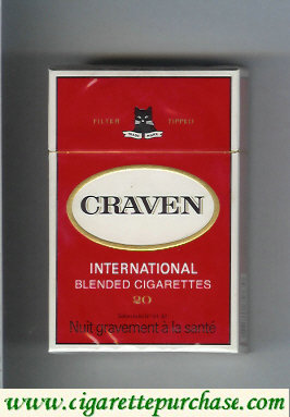 Craven International blended cigarettes