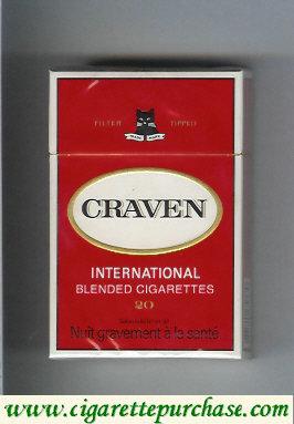 Discount Craven International blended cigarettes