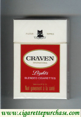Discount Craven Lights International cigarettes