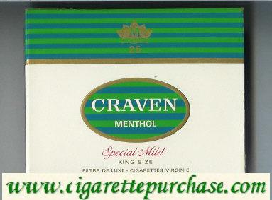 Discount Craven Menthol Special Mild cigarettes king size