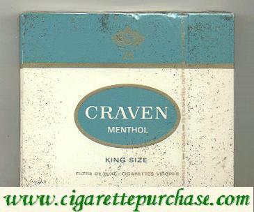 Discount Craven Menthol cigarettes king size