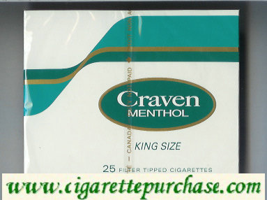 Discount Craven Menthol king size 25 filter tipped cigarettes