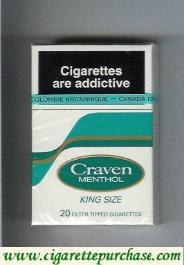 Discount Craven Menthol king size cigarettes