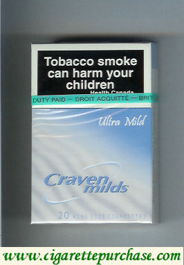 Discount Craven Milds Ultra Mild cigarettes