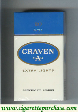Discount Craven A Extra Lights cigarettes