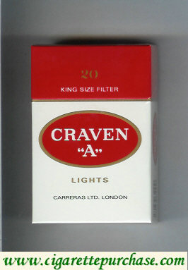 Craven A Lights cigarettes