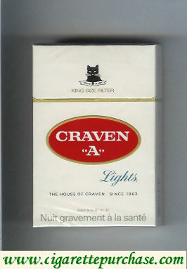 Craven A Lights king size filter cigarettes