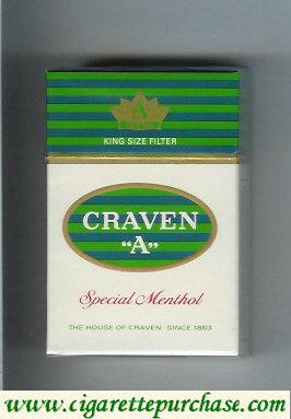 Discount Craven A Special Menthol cigarettes