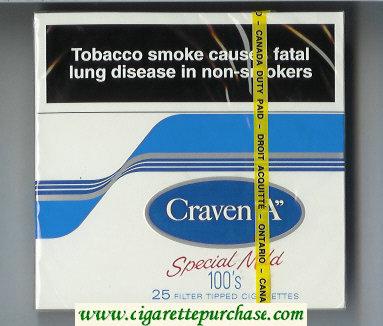 Discount Craven A Special Mild 100s 25 cigarettes