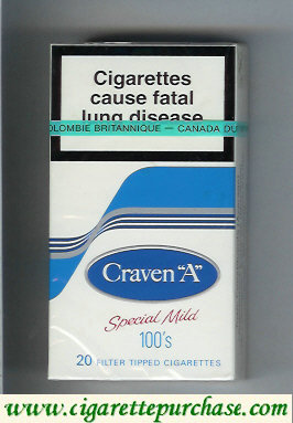 Discount Craven A Special Mild 100s cigarettes